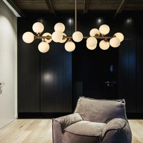 Stocktopus Art Deco hanglamp met 16 lichtpunten